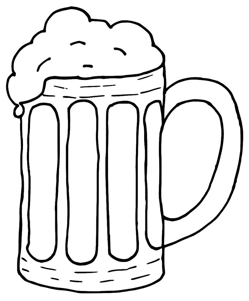 Pint of drawing at. Cheers clipart beer mug