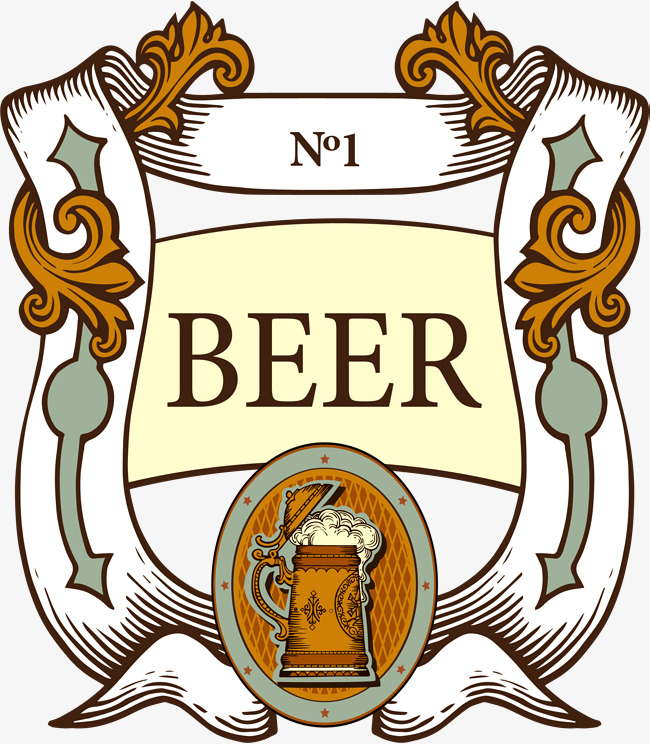 Beer clipart retro. Label png image and