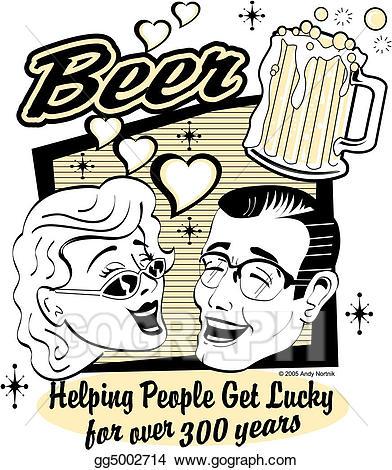 Vector art clip eps. Beer clipart retro