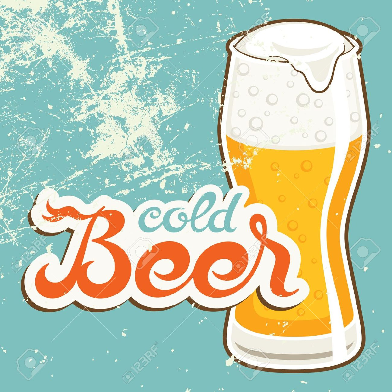 Beer clipart retro. Old style clipground cold