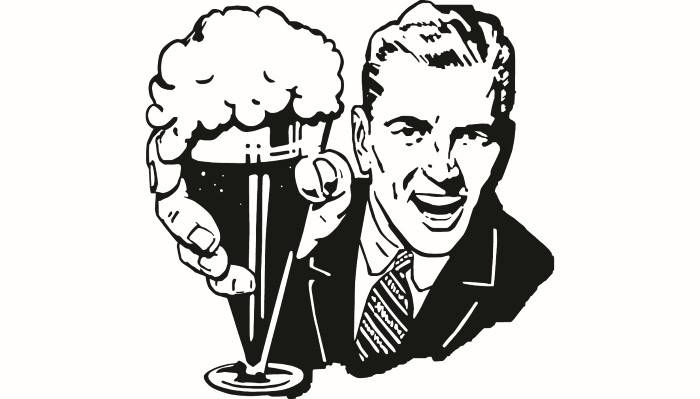 Man male classic vintage. Beer clipart retro