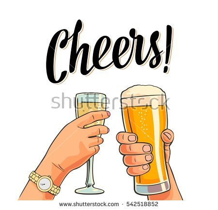 Drinking cheer pencil and. Beer clipart retro