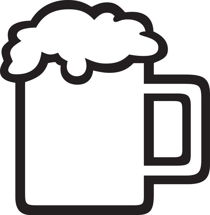 Mug at getdrawings com. Beer clipart silhouette