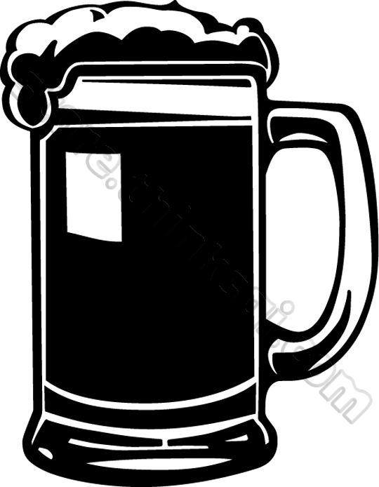 . Beer clipart silhouette