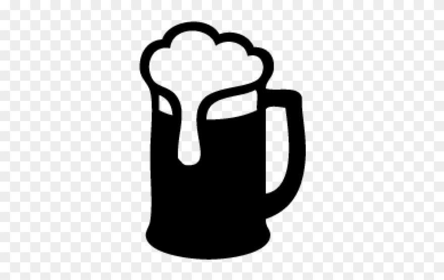 Beer clipart silhouette. Root mug black and