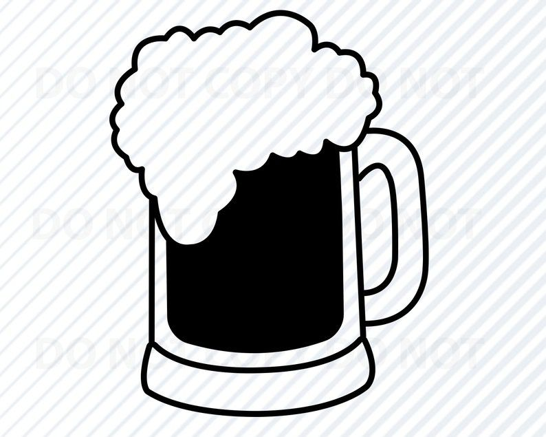 Mug clipart svg. Beer files for cricut