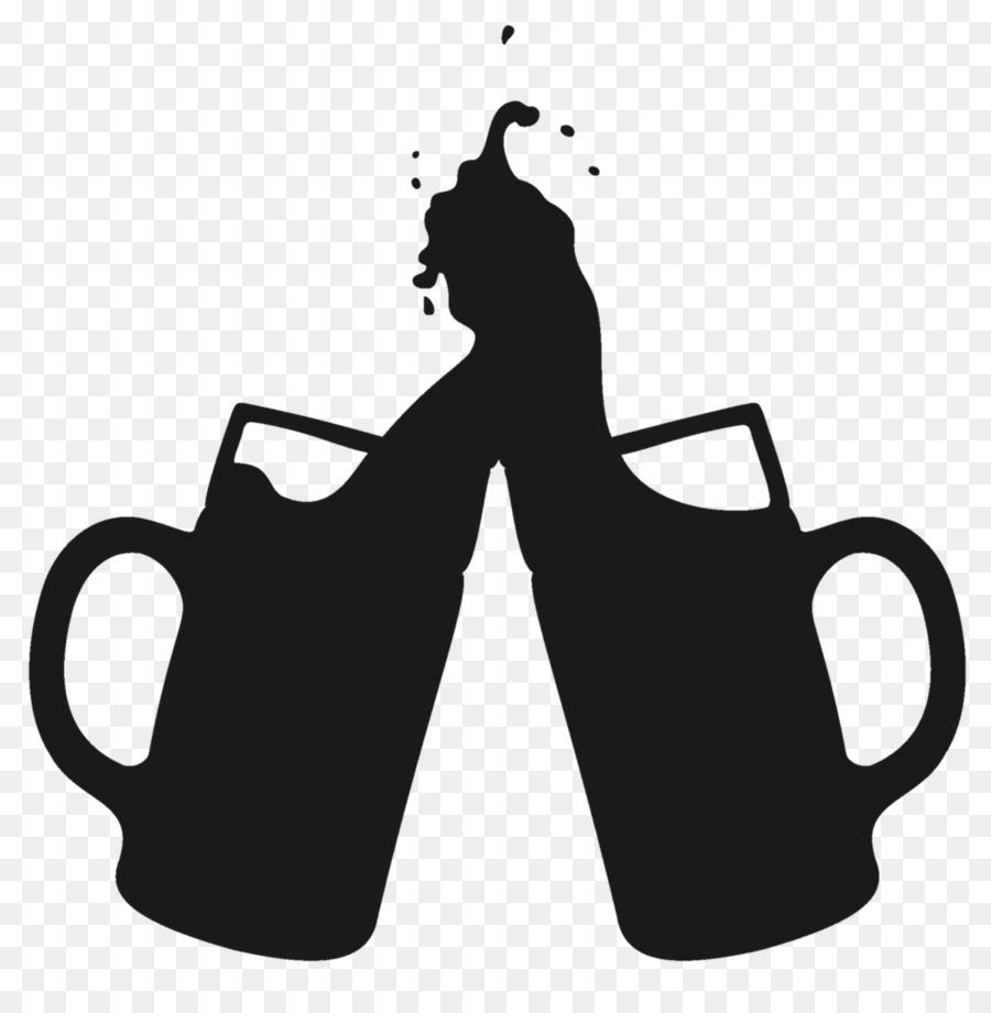 Cartoon black text transparent. Beer clipart silhouette