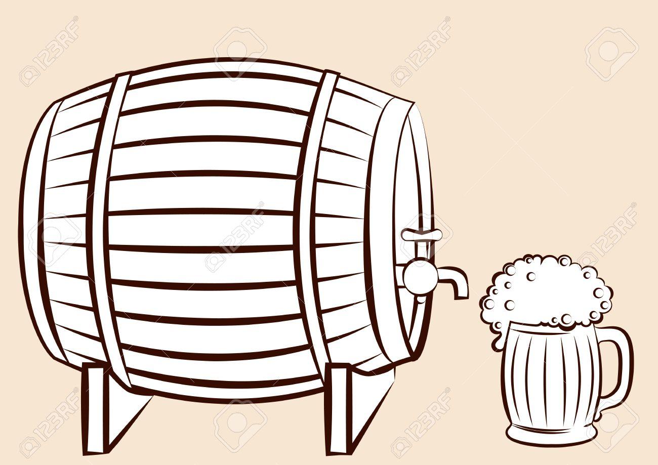beer clipart sketch