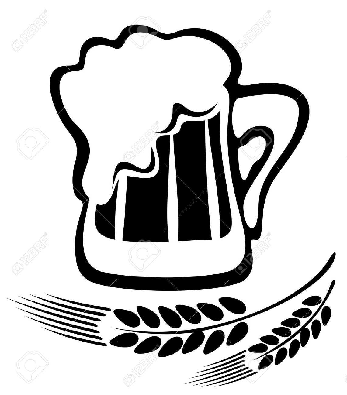 Beer clipart sketch. Pint of drawing at