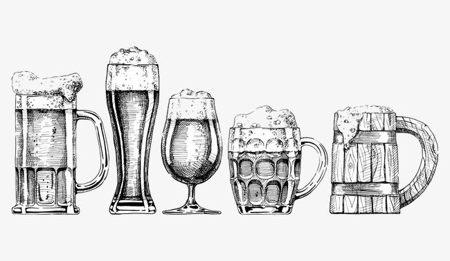 Foam glass image png. Beer clipart sketch