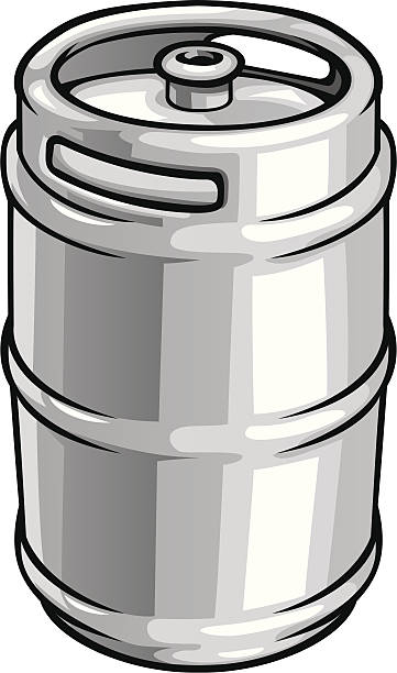 Beer clipart vector. Keg pencil and in