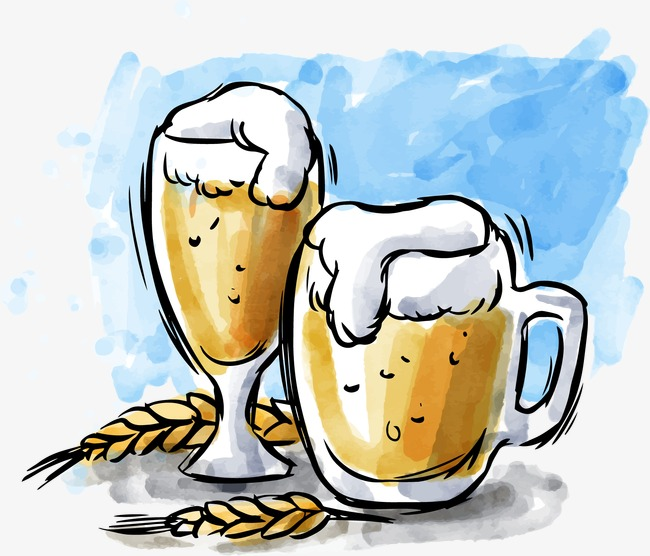Exquisite fine png and. Beer clipart watercolor