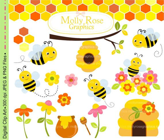 best bee clip. Bees clipart adorable