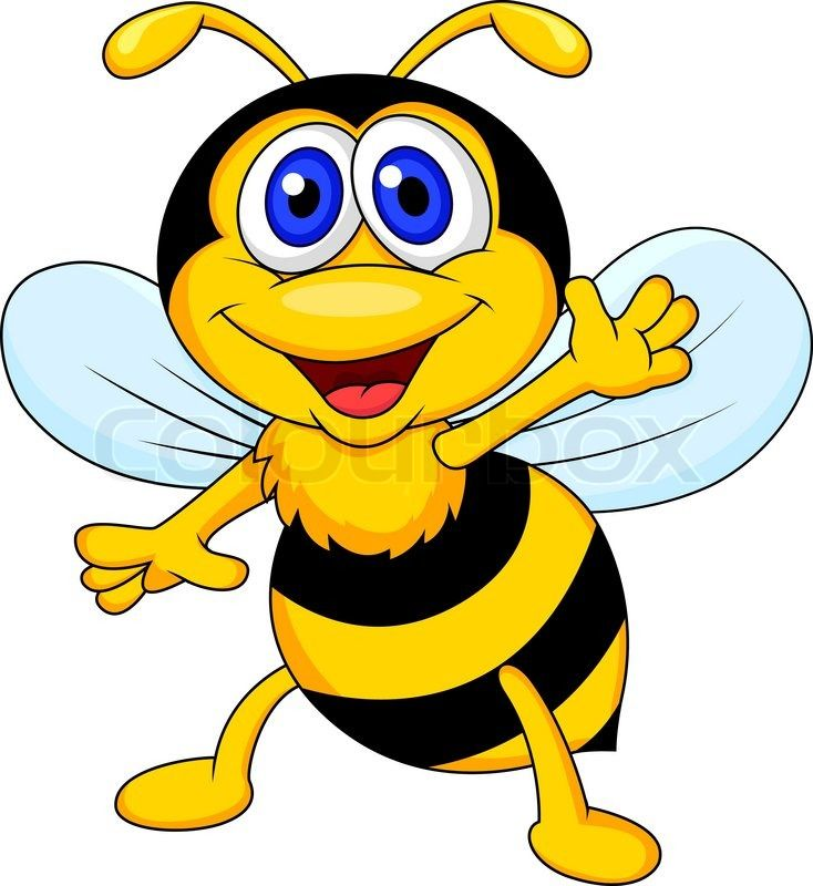 Cartoon images of bee. Bees clipart animated