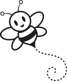 Bees clipart black and white. Honey bee kid preschool
