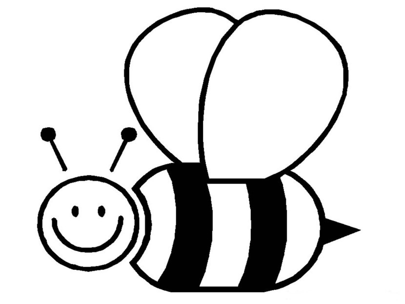 Bees clipart black and white. Bee letters