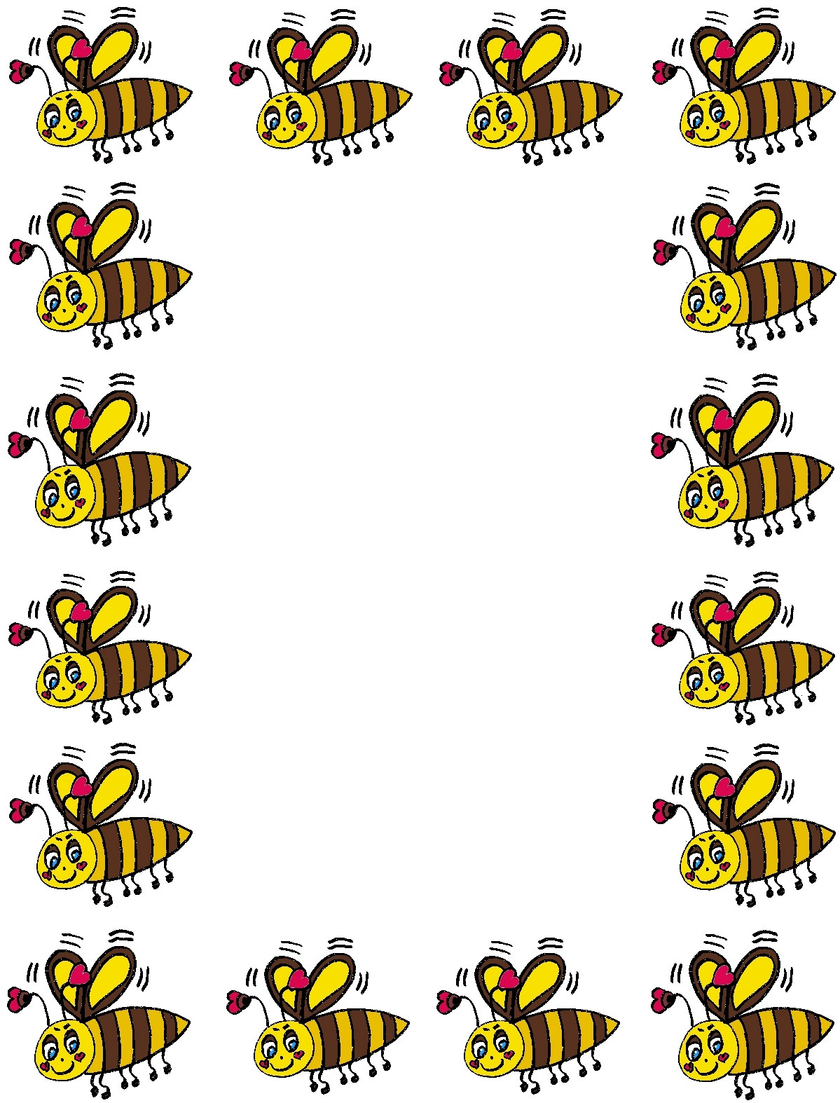 Bees clipart boarder. Free bee border cliparts