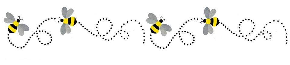 Bumble bee clip art. Bees clipart boarder