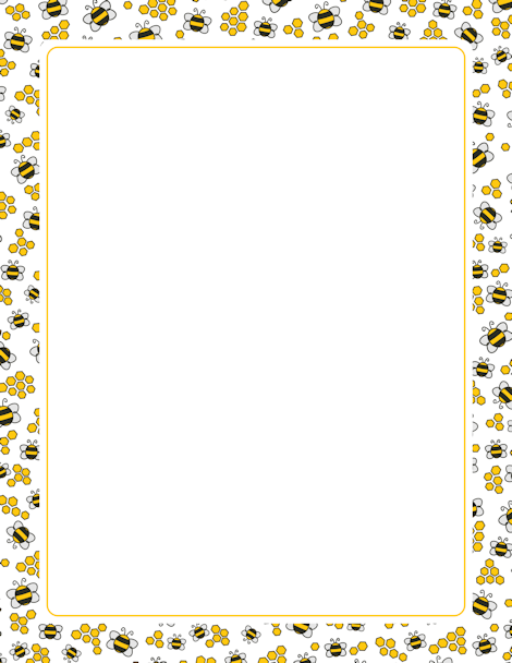 Bees clipart boarder. A page border with