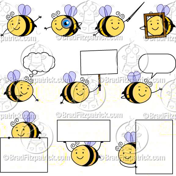Bees clipart borders. Cute bee clip art