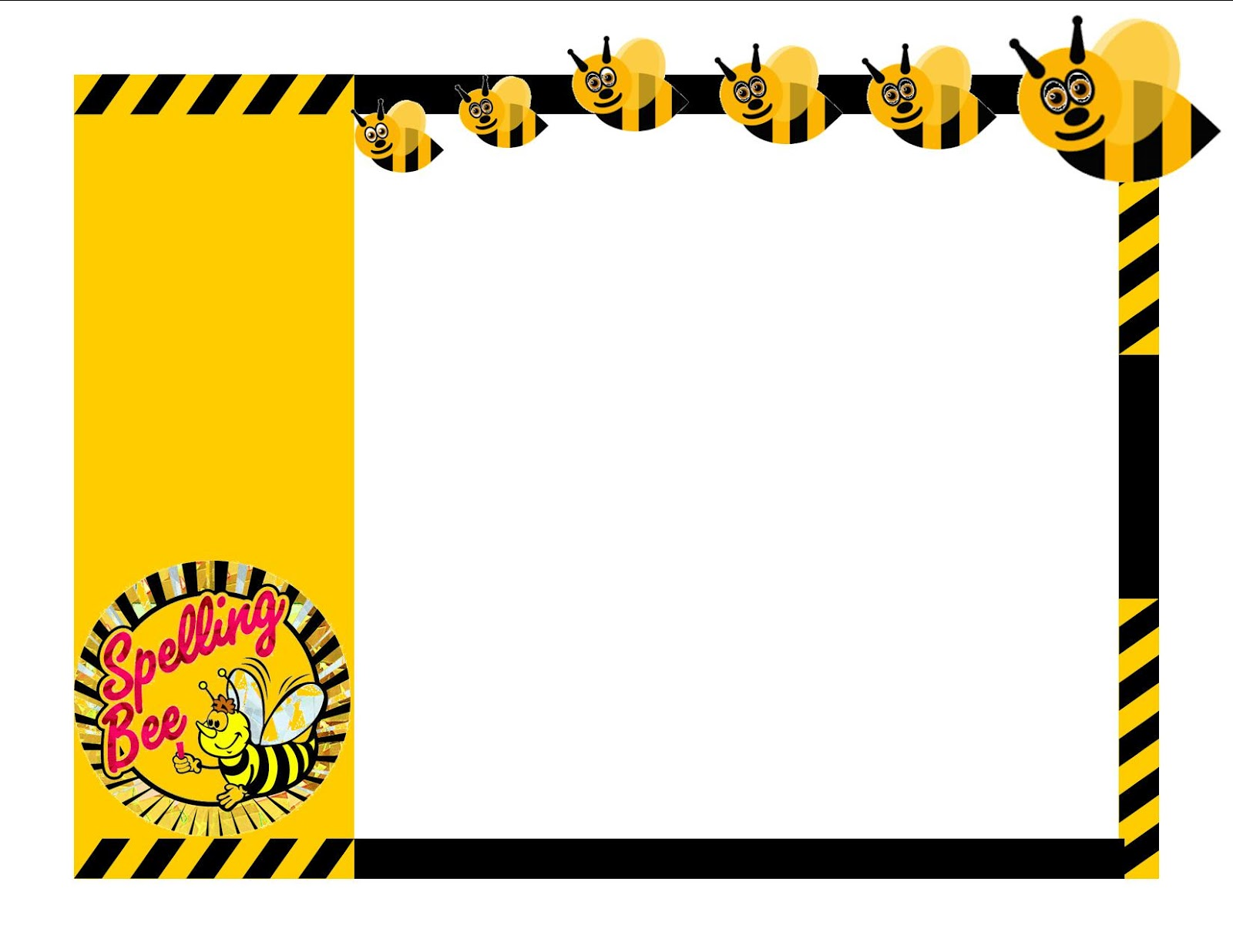 collection of bee. Bees clipart borders