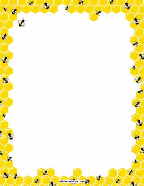 Border clipartuse printable bee. Bees clipart borders