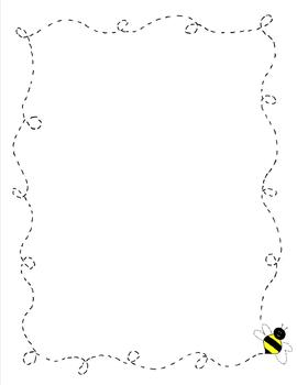 Boarder clipart bee. Border paper yellow doodle