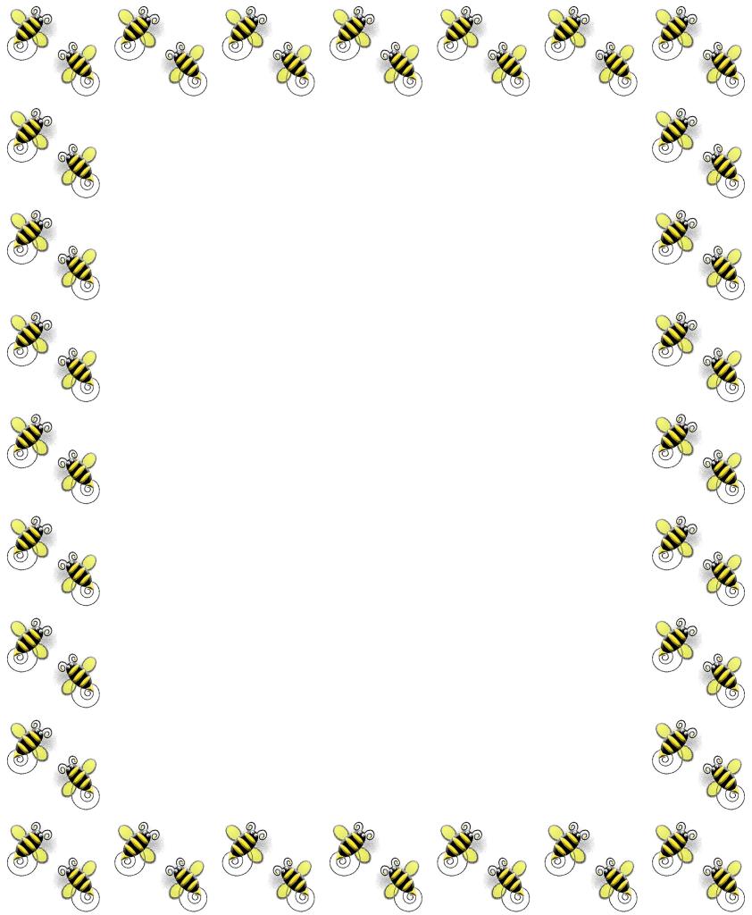 Bee border clip art. Bees clipart borders