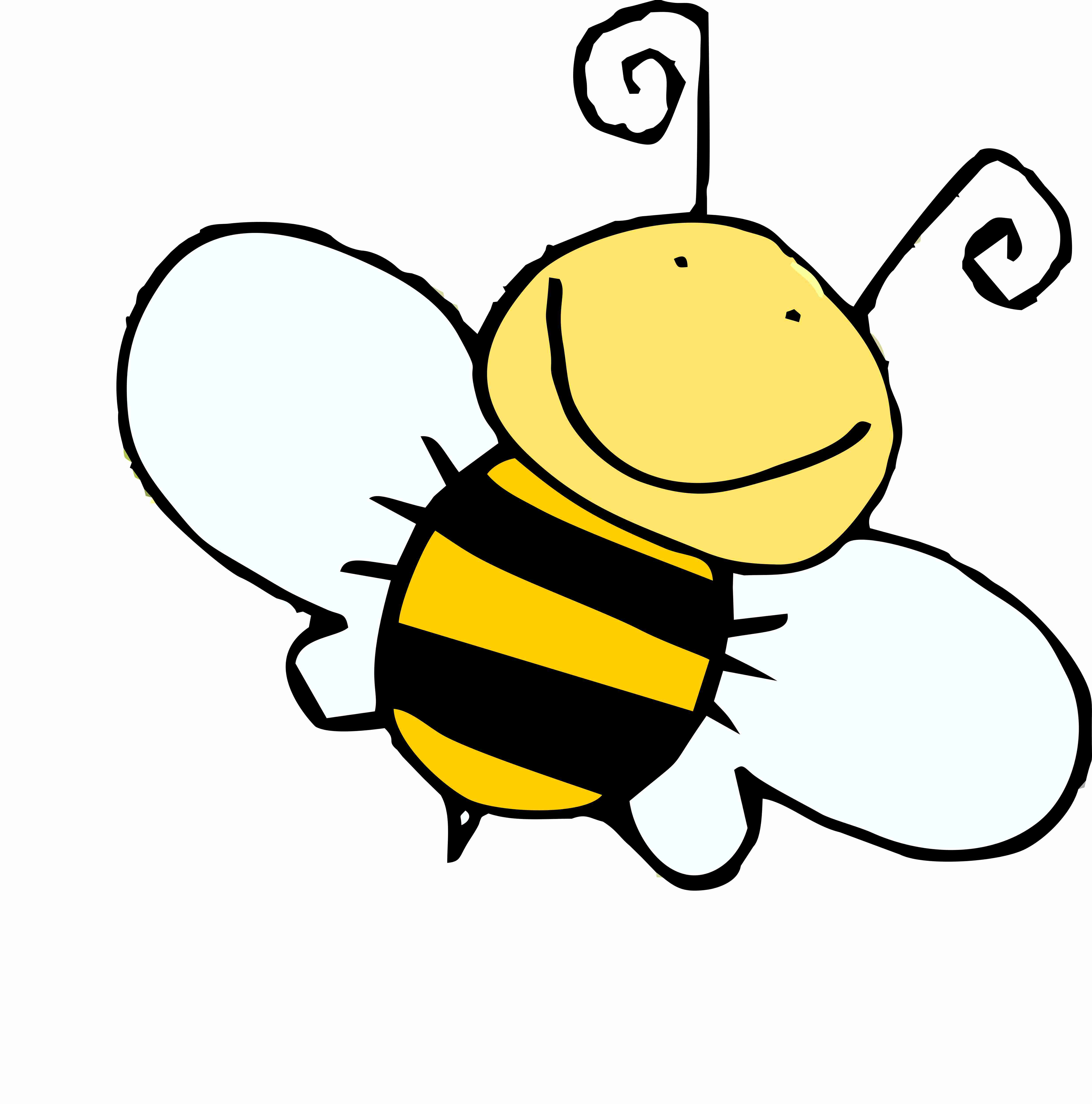 Honey bee drawing simple. Bees clipart cartoon