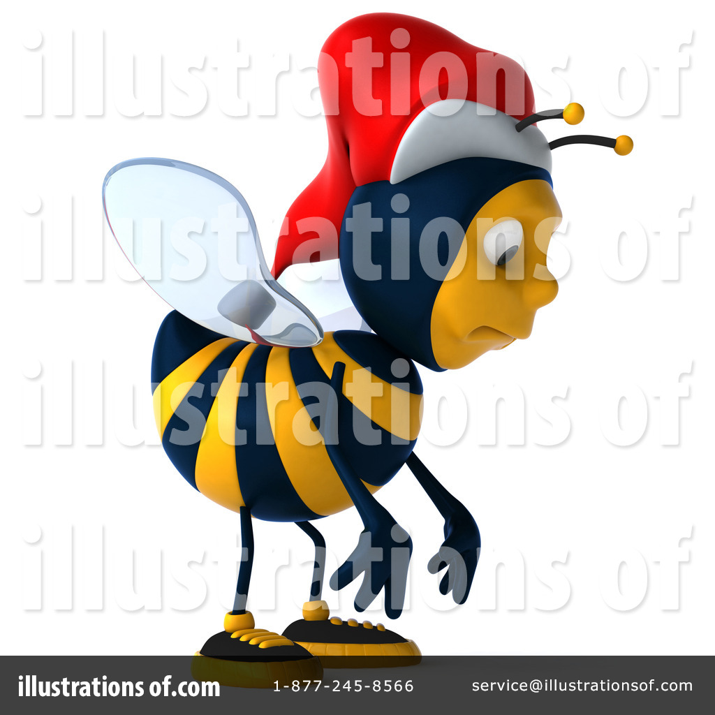 Bees clipart christmas. Bee illustration by julos
