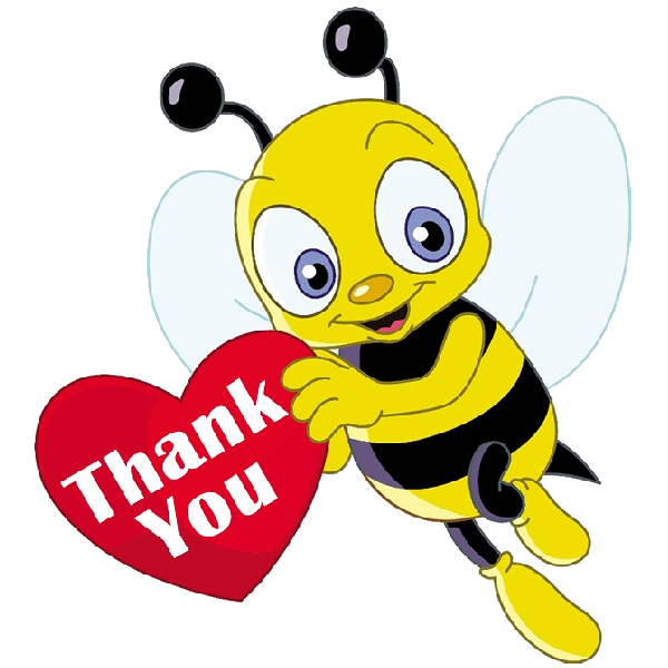 Bees clipart clear background. Funny honey cartoon insect