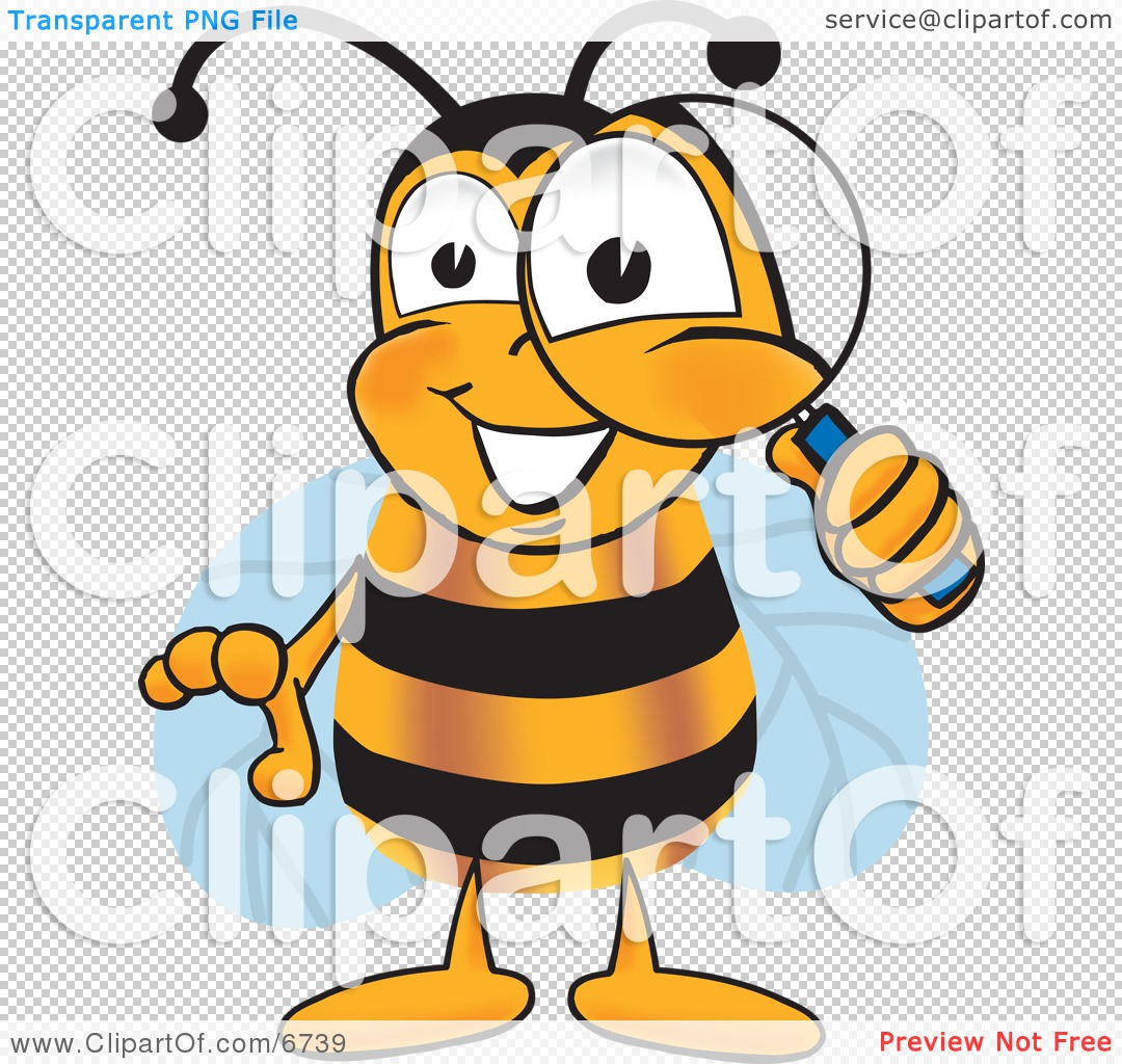 Bees clipart clear background. Magnifying glass transparent panda