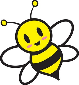 Bees clipart clip art. Cartoon bee