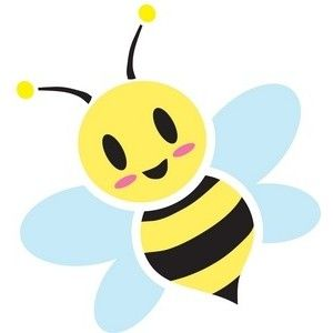 Bees clipart cute. Honey bee image sweet