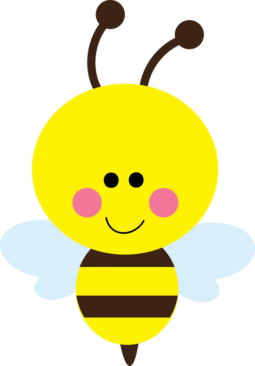 Bumble bee . Bees clipart cute