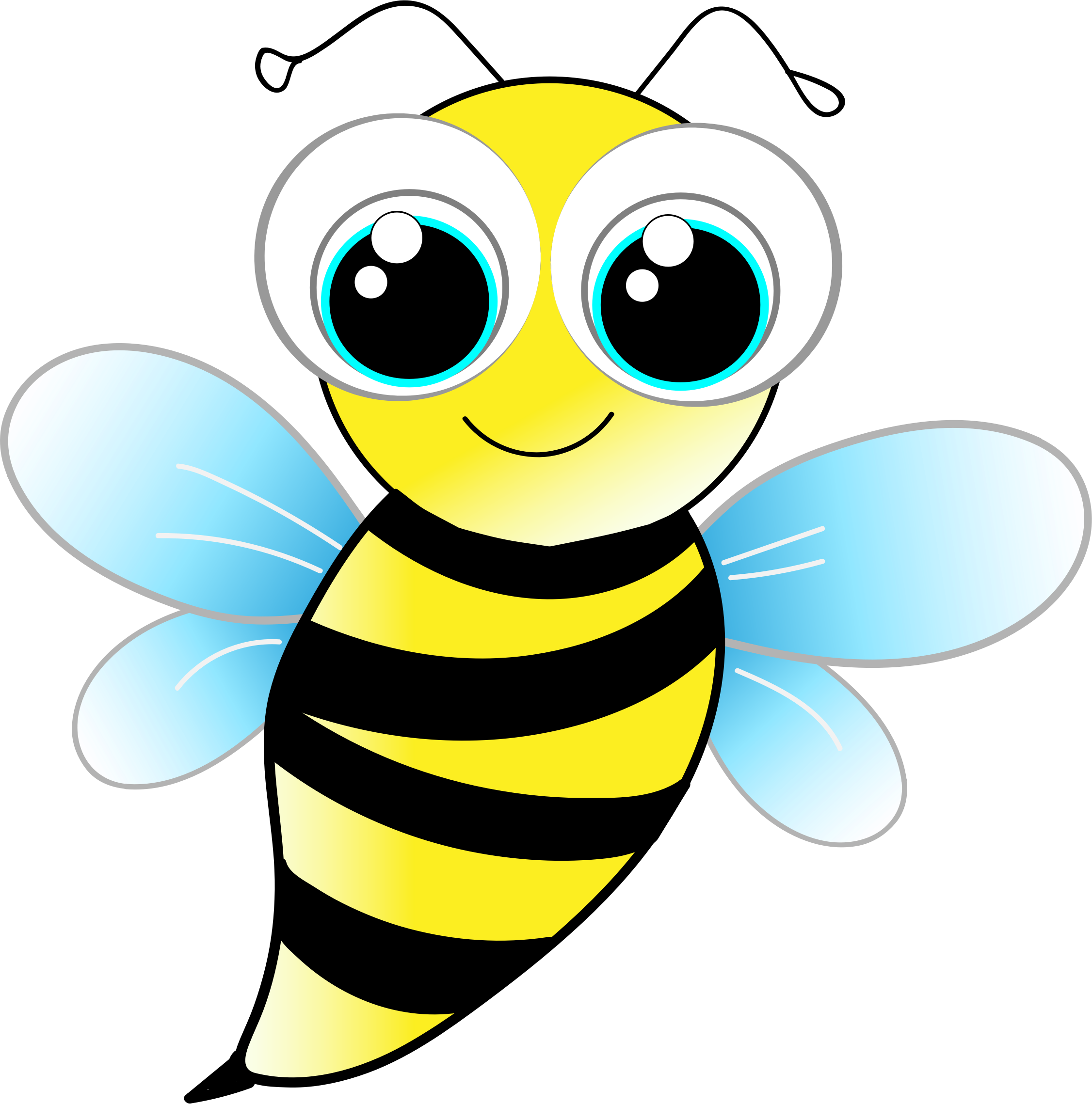 Bees clipart cute. Honey bee crafty inspiration