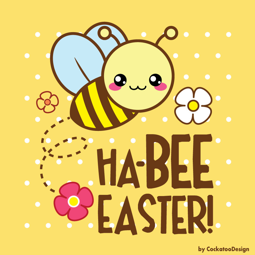 Bees clipart easter.  off kawaii digital