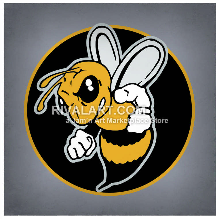 Bees clipart easter. Mascot logo design colored