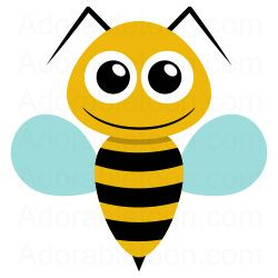 Bee ka motyle owady. Bees clipart easy