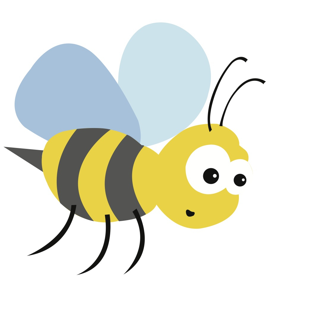 Bees clipart easy. Cartoon bee drawing free