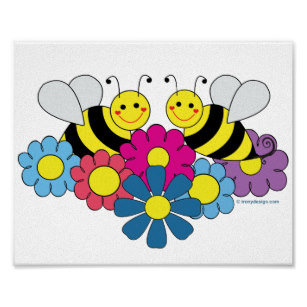 Bumble bee gifts on. Bees clipart flower