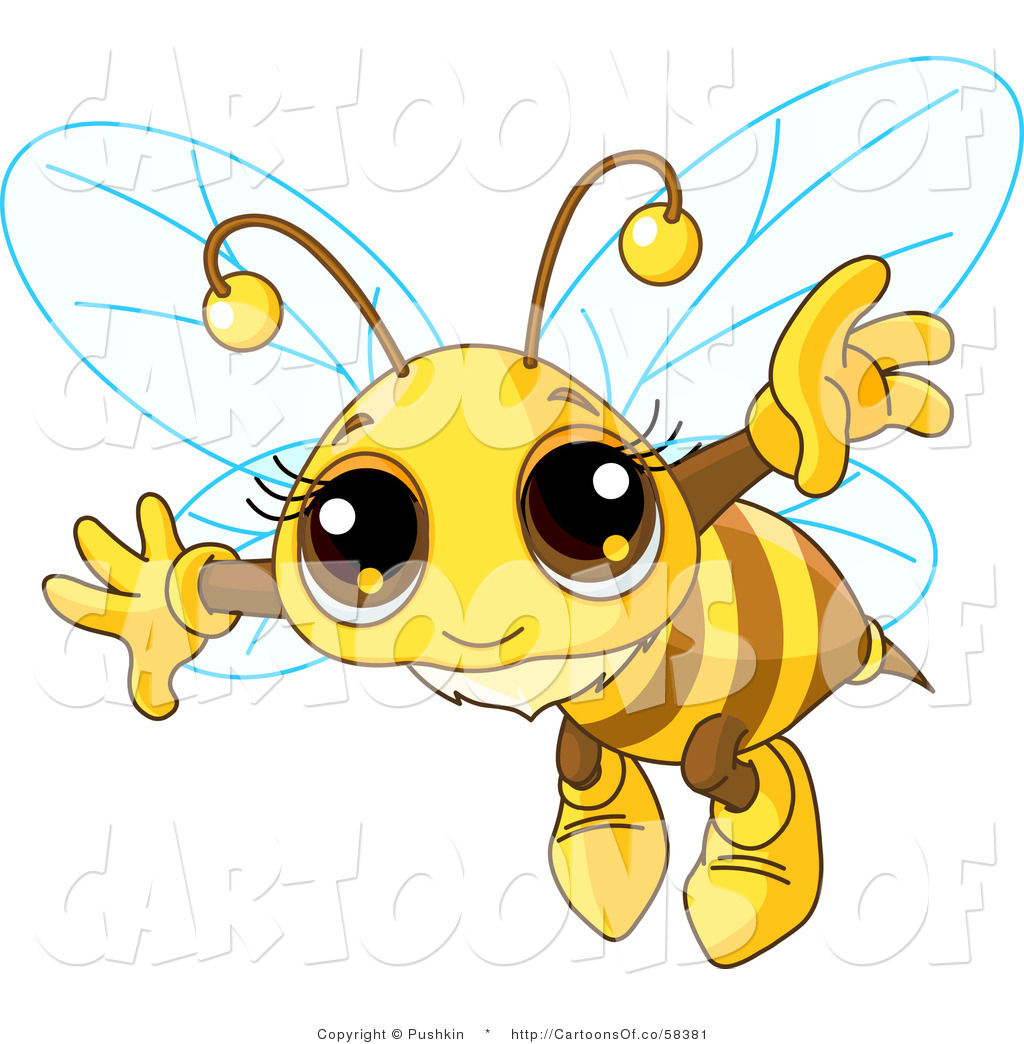 Cute bumble bee drawing. Bees clipart flying