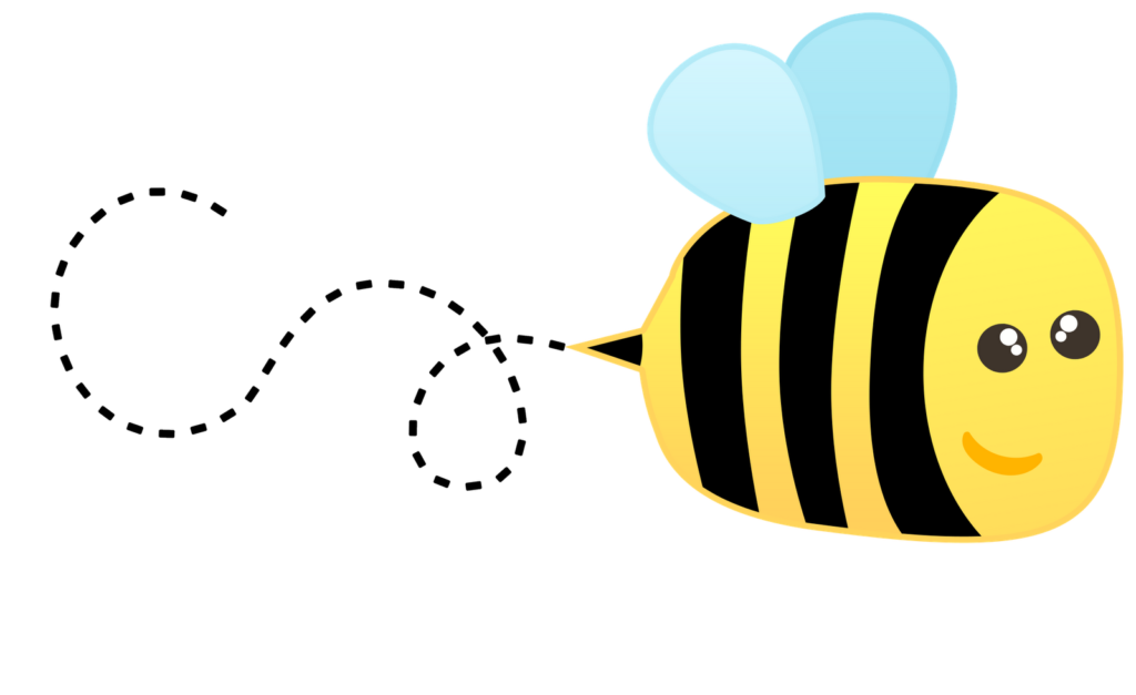 Trail clipart bug.  flying bee images