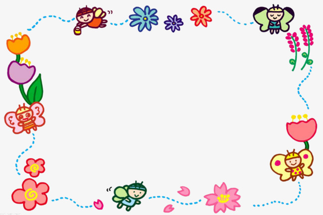 Bees clipart frame. Cute flower border lap
