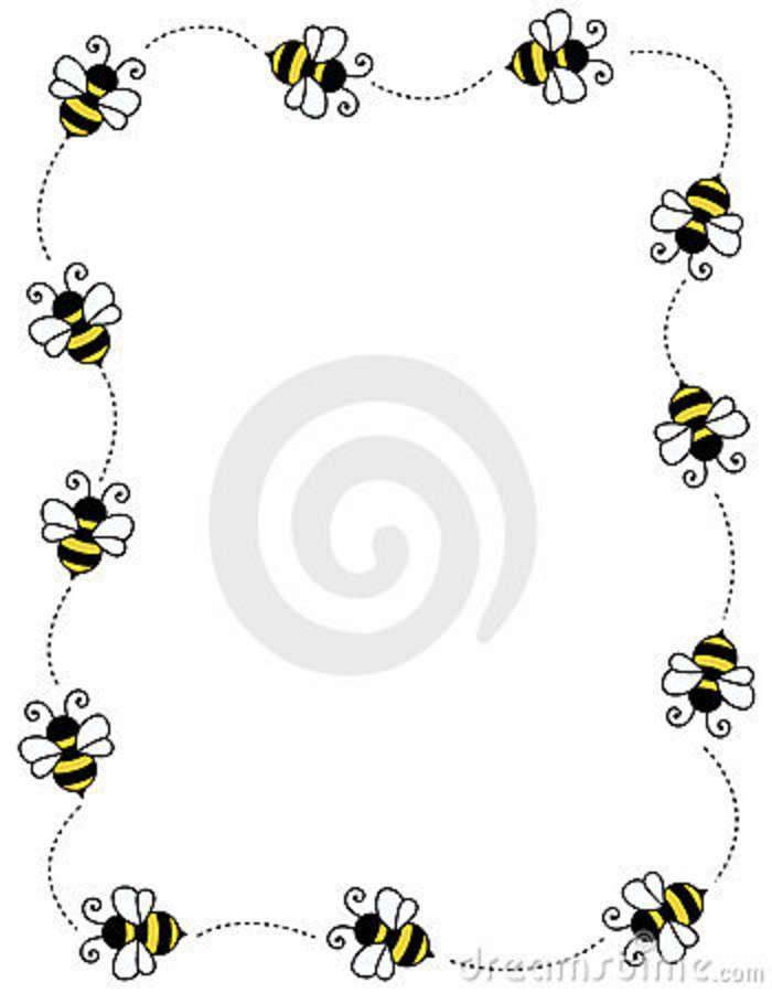 Bug border clip art. Boarder clipart bee