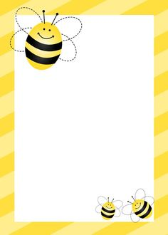 Bees clipart frame. A page border with