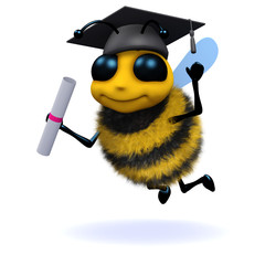 Search photos cartoon category. Bees clipart graduation