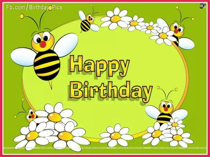 Bees clipart happy birthday. De bezige bijtjesklas pinterest