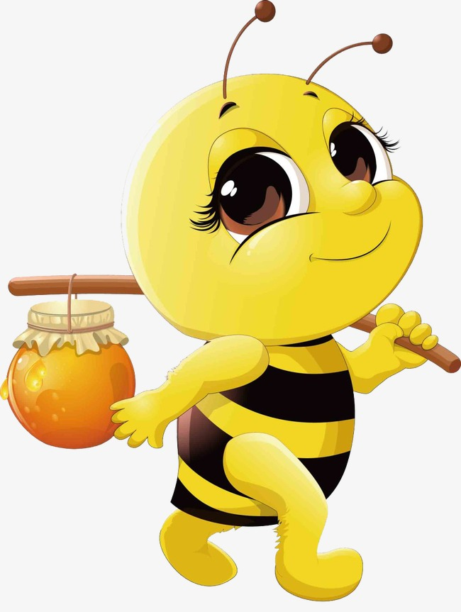 Pick cartoon png image. Bees clipart honey bee