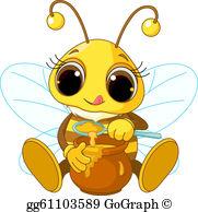 Bees clipart honey bee. Clip art royalty free
